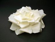 Bride Ivory French Silk Rose Wedding Dress Pin Large Bridal Hair Flowe