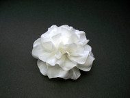 Couture Bridal Hair Accessory Gardenia White Silk Flower Wedding Veil
