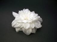 Dress Pin Pure White Camellia Handmade Silk Flower Accessory