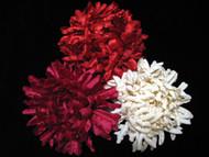 Fuchsia Mum French Silk Flower Bridal Hair Accessory Wedding Dress Pin