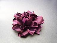 Gardenia Small Bridesmaids Dress Pin Silk Flower Sash Belt Warm Plum