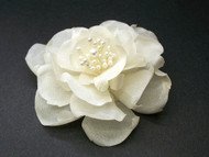 Ivory LaLuna Magnolia Silk Flower Bridal Hair Accessory