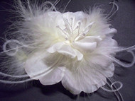 Ivory Wedding Dress Pin Fascinator Tropical Flower Bridal Accessory Bridal Dress Sash Wedding Dress Accessory