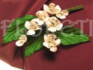 Mon Cherry White Bridal Hair Clip Dress Pin Wedding Accessory Corsage