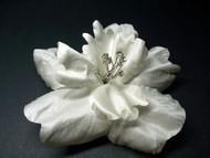 Bridal Wedding Hair Clip Accessory Tropical Silk Flower White Hibiscus