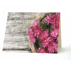 """Pot O' Mums"" Card"