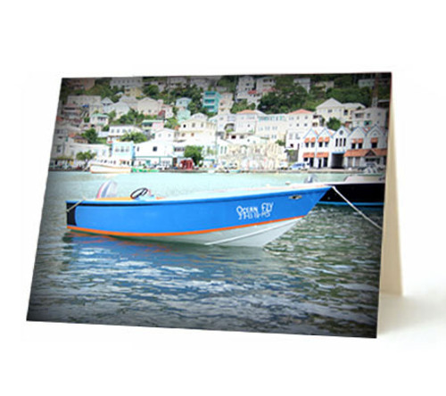 """""""Grenadian Boat"""" Card"""