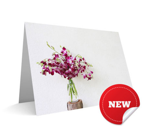 """Jar of Orchids"" Card"