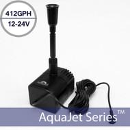 AquaJet Pro Solar Fountain Submersible Pump 12-24V