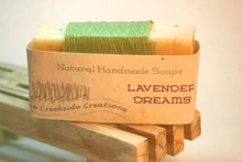 Soft, gentle and lavender buds make this soap lightly exfoliating.  Ah, the smell of lavender fields!