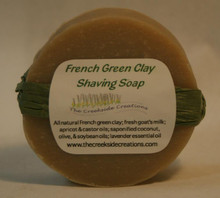 An invigorating, conditioning round shaving soap with awesome lather!  The french green clay pulls out toxins while the oils work to condition the skin!