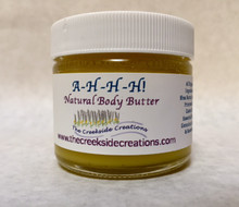 A-H-H-H  ! A body butter that will help with chronic and acute pains; is relaxing on the nerves; and is useful to relieve painful sensations found in M.S., Parkinson's, and Fibromyalgia! And it feels so very good for my skin!!