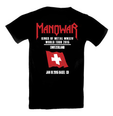 T-Shirt Kings Of Metal 2015 Tour/ Switzerland Ltd. Edition