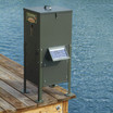 Texas Hunter 70 lb. Lake & Pond Fish Feeder with Straight Legs and Optional Solar Charger