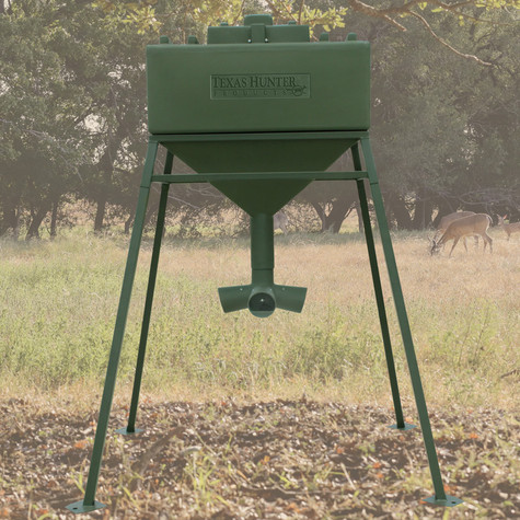 1 000 lb extreme protein feeder texas hunter products for Texas hunter fish feeder