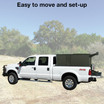Easily transport your Texas Hunter single 4' x 4' deer blind anywhere.