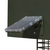 12 Volt Universal Solar Charger for Deer Feeders shown mounted on Texas Hunter Products Deer Feeder