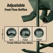 Adjustable Feed Flow Baffles