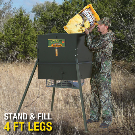 Stand fill 650 lb deer and wildlife feeder texas for Texas hunter fish feeder