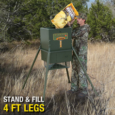 Texas Hunter 300 lb. Wildlife Trophy Feeder with 4-foot Extension Legs