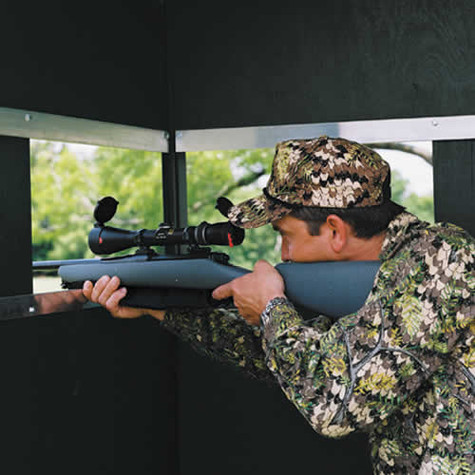 Solid Starboard XL Marine Siding Window Panel for Hide-A-Way Window System in Texas Hunter Products Deer Blinds