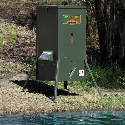 Texas Hunter 175 lb. Lake & Pond Fish Feeder with Adjustable Legs