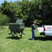 """Low profile feed ports are 17"""" off the ground to make it easy for does and fawns to feed."""
