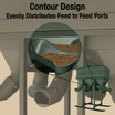 Cutaway View showing Contour Design that provides Superior Feed Flow