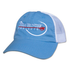 Light Blue Mesh Back Cap with Fish Hook Logo