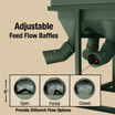 Adjustable Feed Flow Baffles provide different feed flow options
