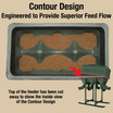 Inside Top View showing the Contour Design the provides Superior Feed Flow