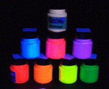 Acrylic fluorescent in UV blacklighting