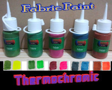 Thermochromic fabric paint
