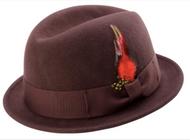 MONTIQUE MEN'S CENTER CRESE STINGY SNAP BRIM HARD FELT FEDORA HAT. Prices are exclusive to online sales.