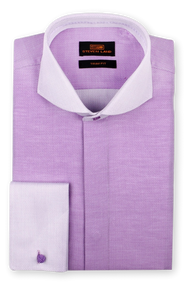 Crafted from a smooth and lustrous cotton woven herringbone fabric, we've produced this refreshed take on the contrast collar dress shirt. If you enjoy our Big Knot ties, the cutaway collar here is the best pairing.      100% Cotton Woven Herringbone pattern   Contrast collar and cuffs   Trim Fit   Cutaway collar   Fly Front