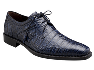 -Handsome PlainToe Exotic Bleucher Lace-Up -Genuine Crocodile with Crocodile-Wrapped Tassels -Soft Italian Calfskin Linings * The '1968 Collection' -Injected Memory Foam Cushioned Insole -Handmade in Joint Collaboration with Mezlan Production Facilities in Spain and Mexico
