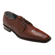 """Kumon"" by David x a genuine croocodile and lizard shoe in Cognac"