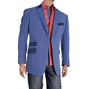 Inserch tweed Blazer in Blue. Prices are exclusive to online sales.
