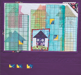 Free project with mul‰-tex‰—Homescape art quilt