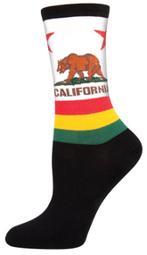 California Flag - Women's Novelty Socks By Socksmith