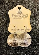 Earth Grace Large Sand Dollar Earrings