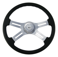 "Steering Wheel 18"" Classic Leather (Requires 3 Hole Hub)"