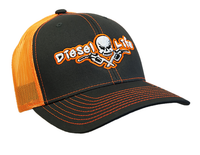 Diesel Life Snap Back Hat - Charcoal/Neon Orange
