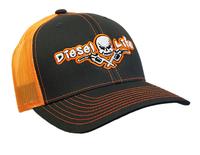 Diesel Life Snap Back Hat - Charcoal/Neon Orange
