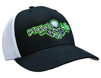OSFA Diesel Life Black / Green Trucker Hat Flex Fit