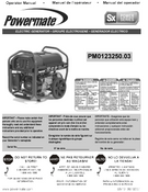 POWERMATE PARTS MANUAL 0070237_0313 PM0123250.03 092013