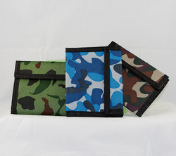 Front view of wallets