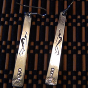 Hand-Crafted Silver Tribal Earrings