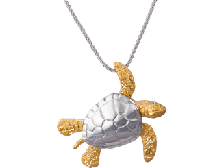 Denny Wong 14k two tone Sea Turte Pendant with Diamonds