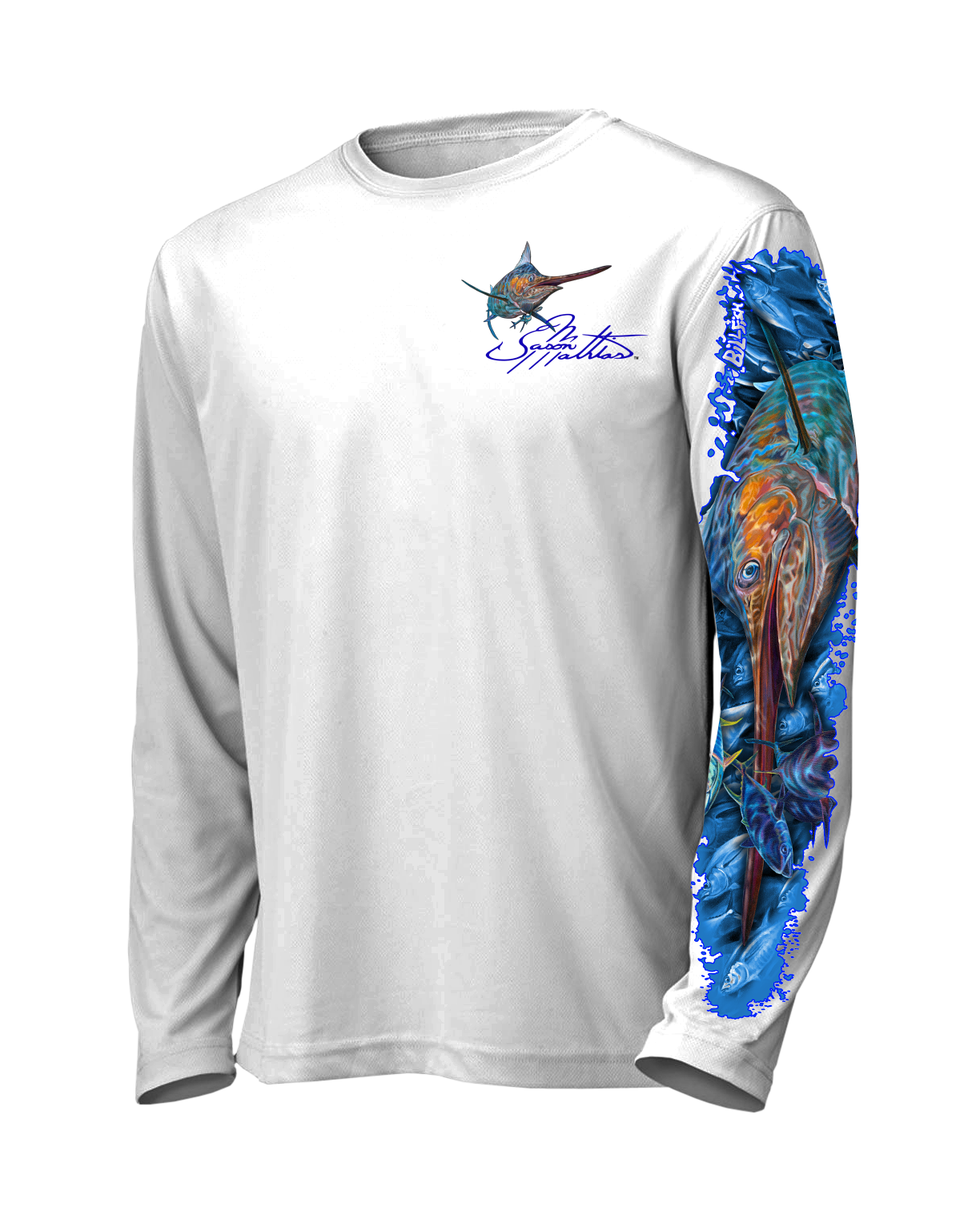 marlin-sailfish-white-front-shirt-jason-mathias-apparel-gear-fishing-gamefish-art-sportfish-art-tee-shirt-t-shirt-clothing.png